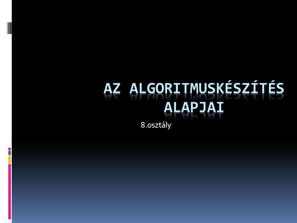 Az algoritmuskészítés alapjai