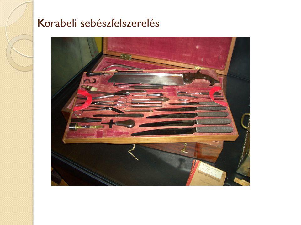 Korabeli sebészfelszerelés
