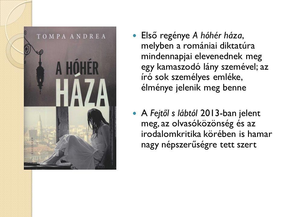 Első regénye A hóhér háza, melyben a romániai diktatúra mindennapjai elevenednek meg egy kamaszodó lány szemével; az író sok személyes emléke, élménye jelenik meg benne