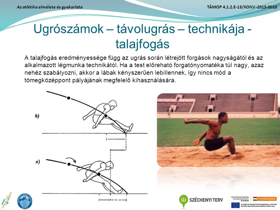 Ugrószámok – távolugrás – technikája - talajfogás