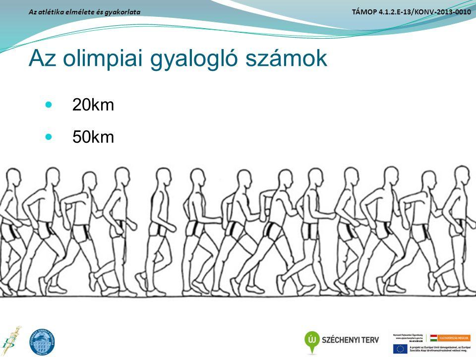 Az olimpiai gyalogló számok