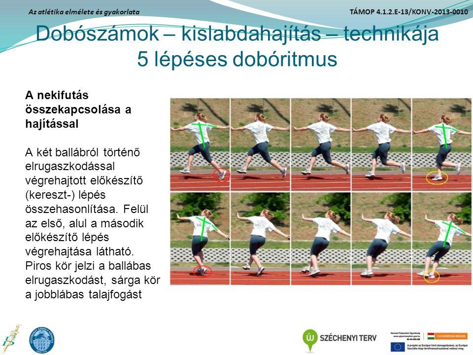 Dobószámok – kislabdahajítás – technikája 5 lépéses dobóritmus