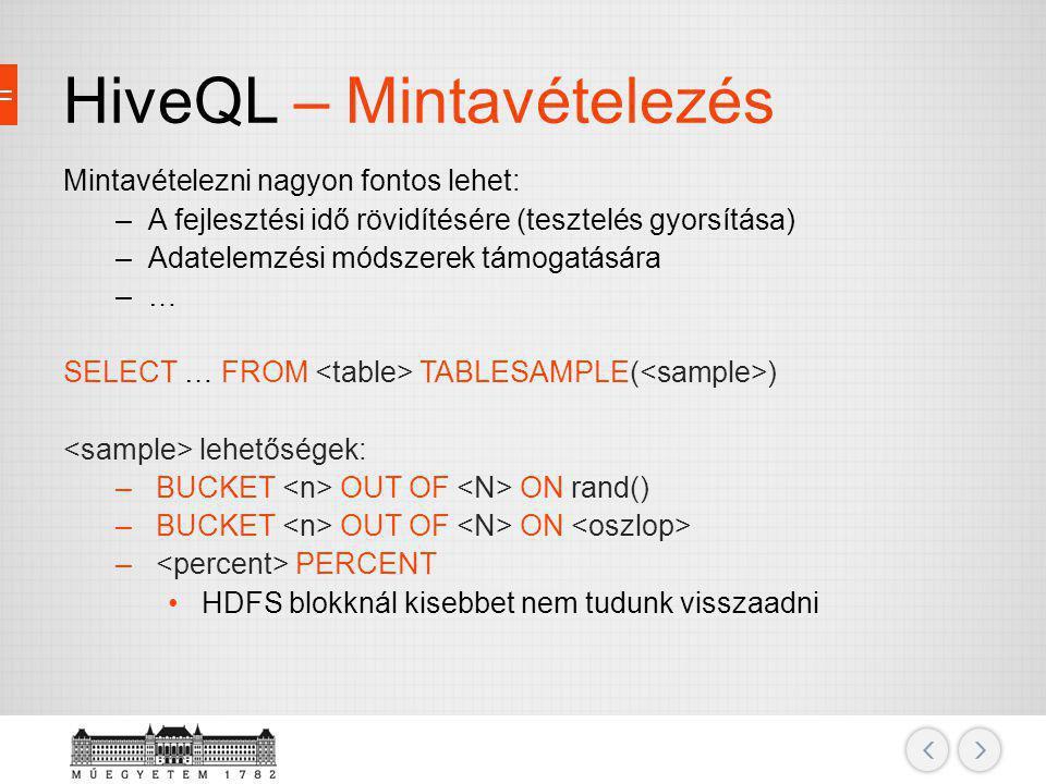 HiveQL – Mintavételezés