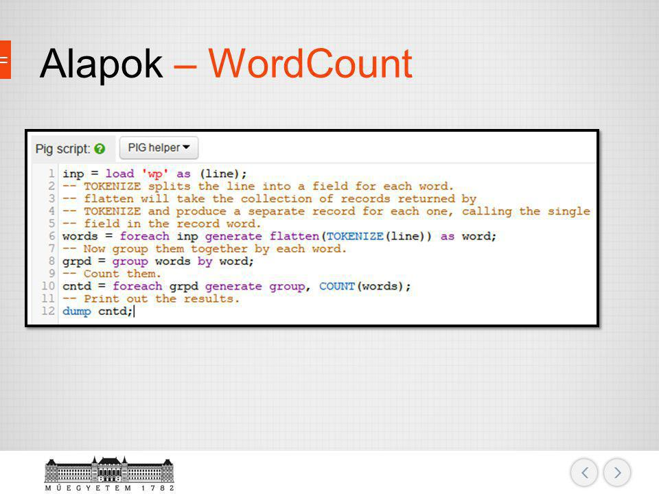 Alapok – WordCount