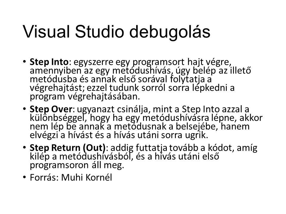 Visual Studio debugolás
