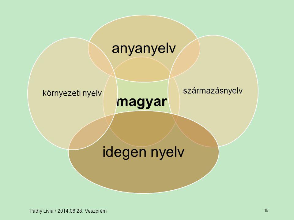 idegen nyelv anyanyelv magyar származásnyelv környezeti nyelv