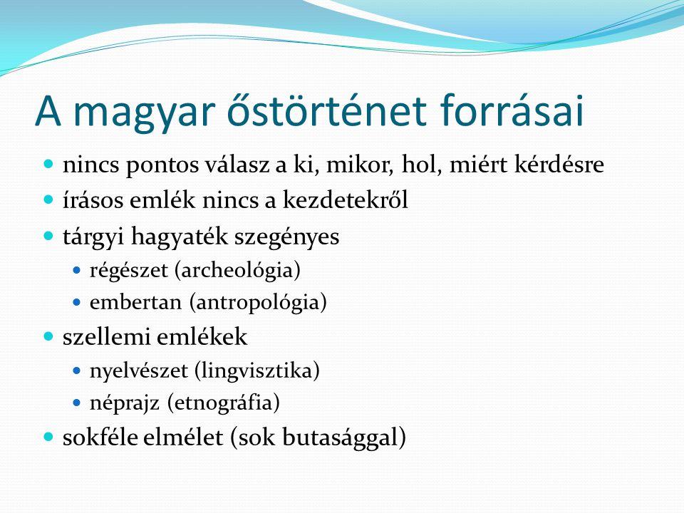 A magyar őstörténet forrásai