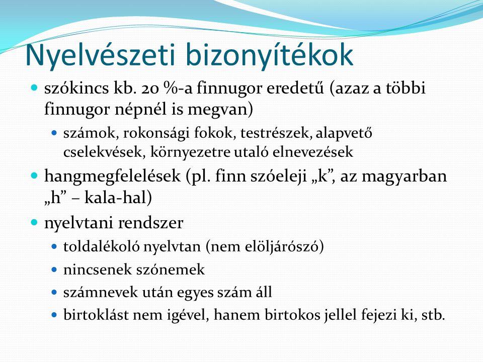 Nyelvészeti bizonyítékok