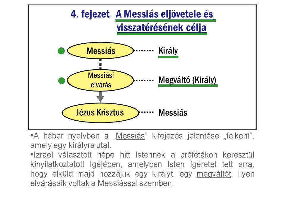 4. fejezet A Messiás eljövetele és visszatérésének célja
