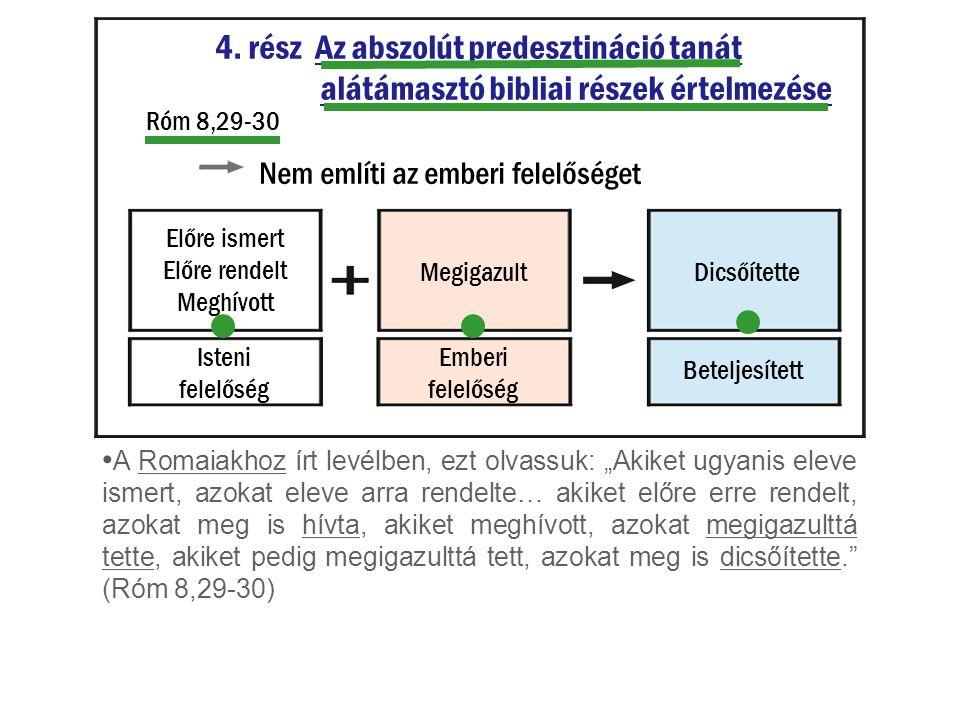 4. rész Az abszolút predesztináció tanát