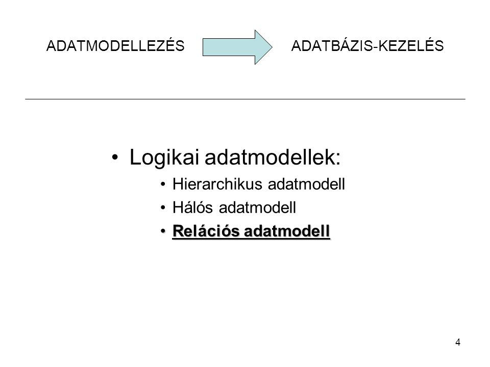 ADATMODELLEZÉS ADATBÁZIS-KEZELÉS