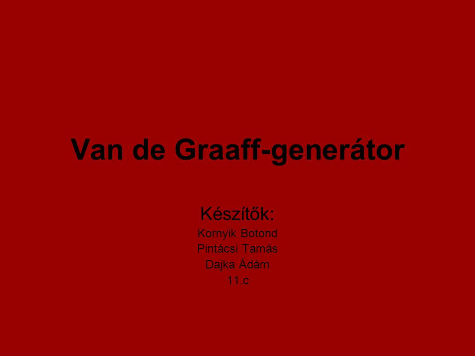 Van de Graaff-generátor