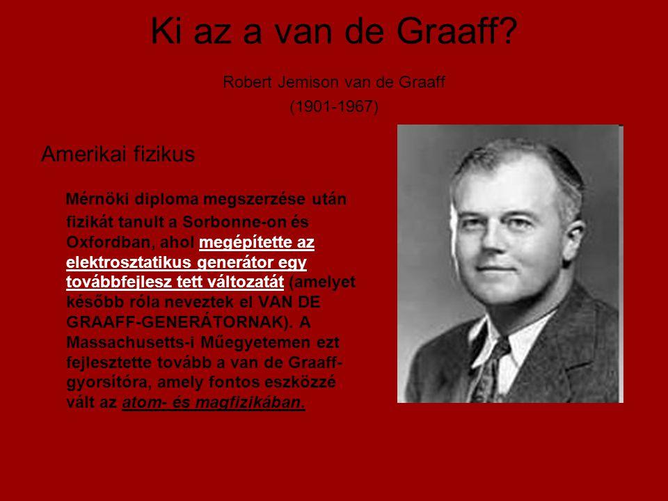 Ki az a van de Graaff Robert Jemison van de Graaff (1901-1967)
