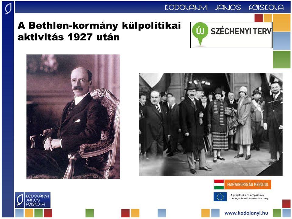 A Bethlen-kormány külpolitikai aktivitás 1927 után