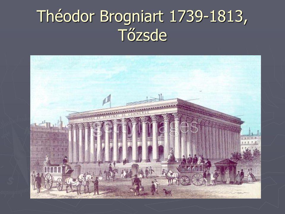 Théodor Brogniart 1739-1813, Tőzsde