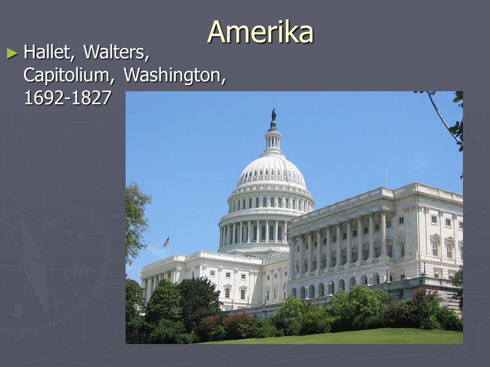 Amerika Hallet, Walters, Capitolium, Washington, 1692-1827