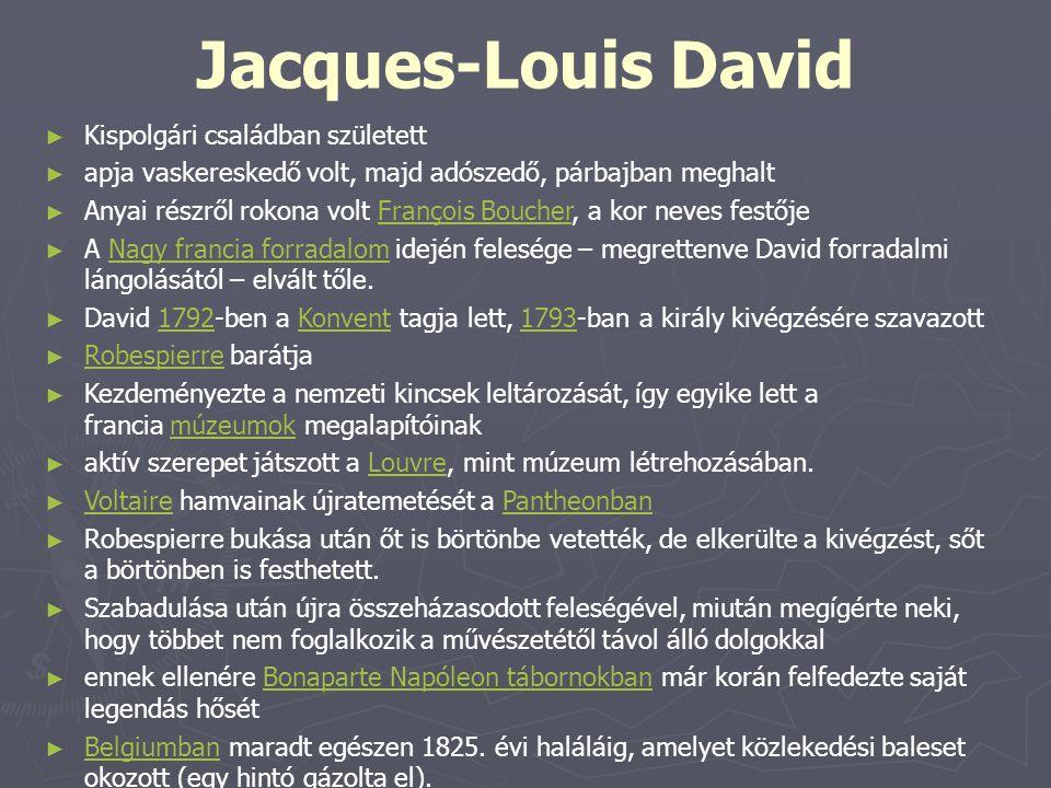 Jacques-Louis David Kispolgári családban született