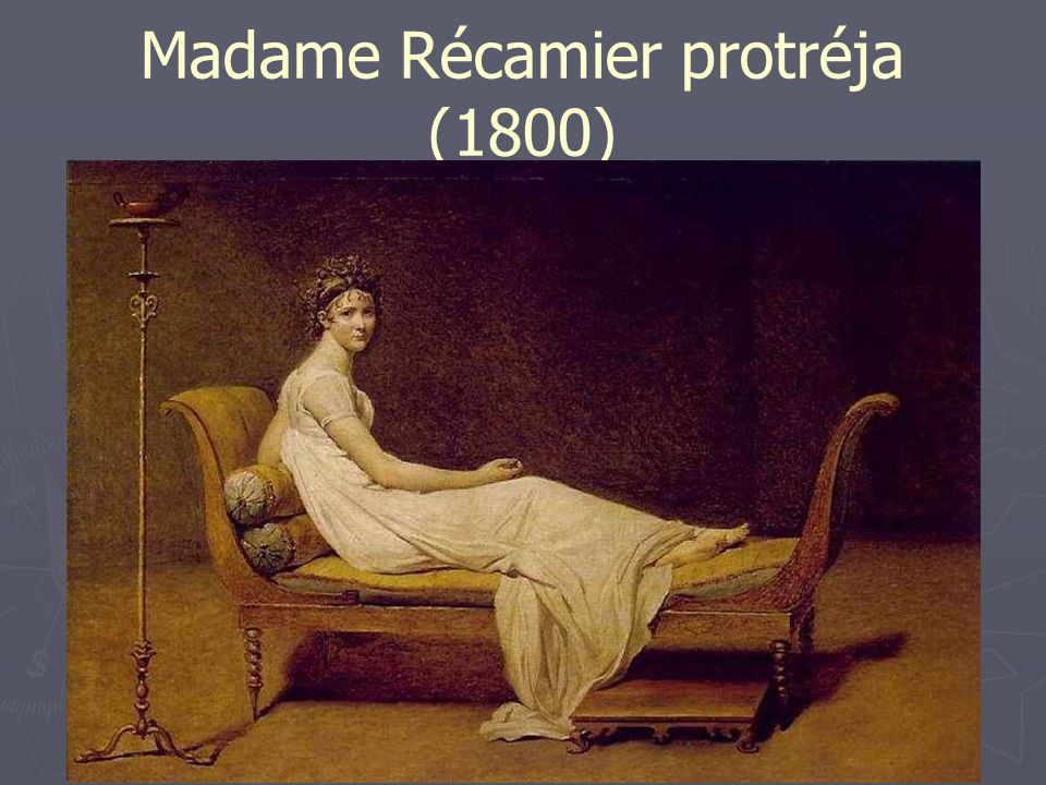 Madame Récamier protréja (1800)