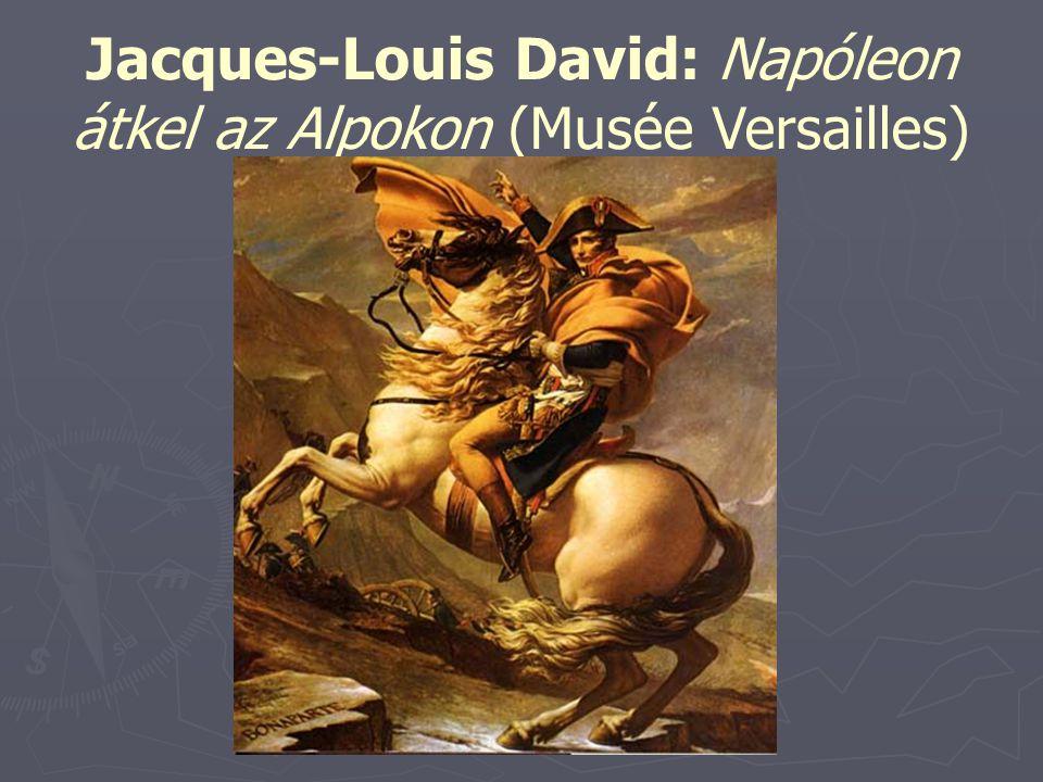 Jacques-Louis David: Napóleon átkel az Alpokon (Musée Versailles)