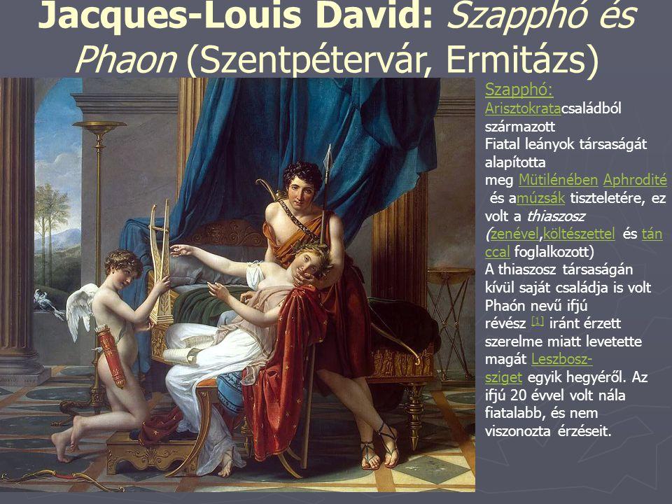 Jacques-Louis David: Szapphó és Phaon (Szentpétervár, Ermitázs)