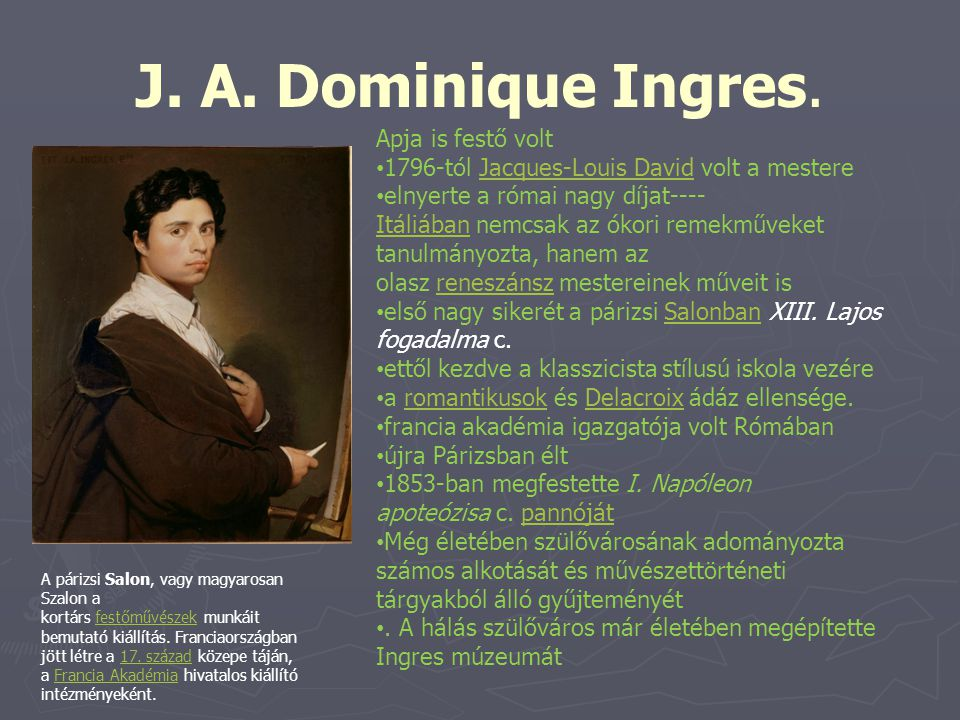 J. A. Dominique Ingres. Apja is festő volt