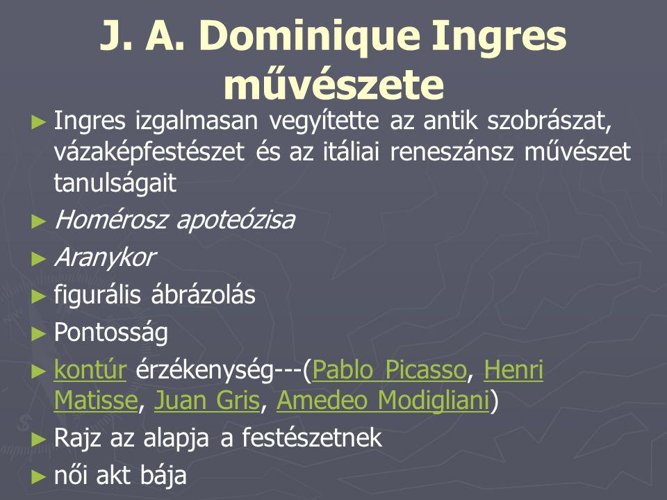 J. A. Dominique Ingres művészete