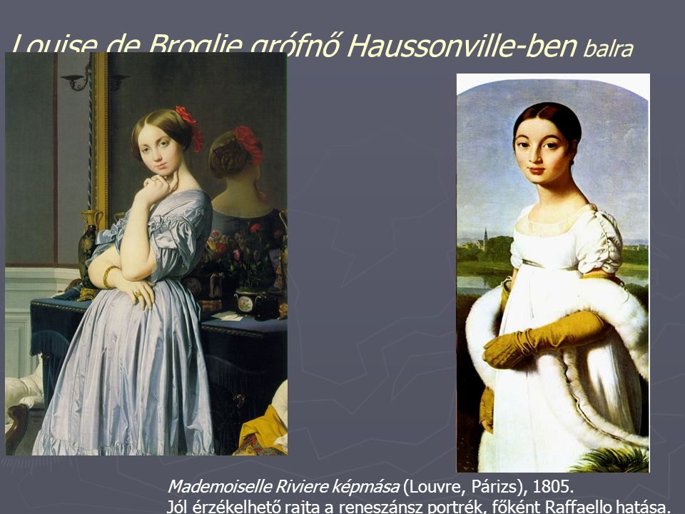 Louise de Broglie grófnő Haussonville-ben balra