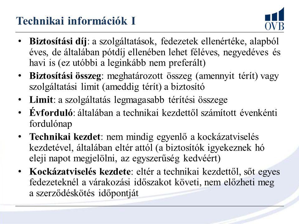 Technikai információk I