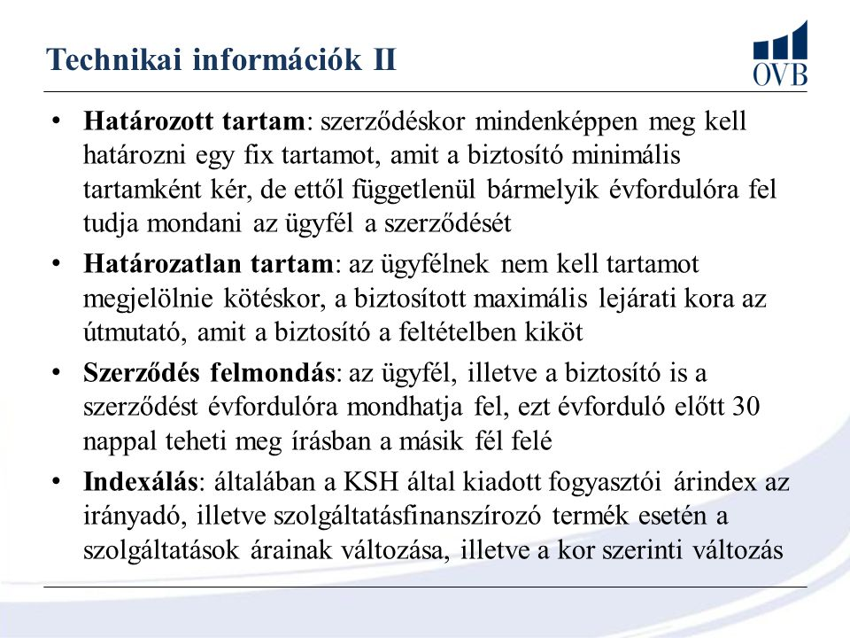 Technikai információk II