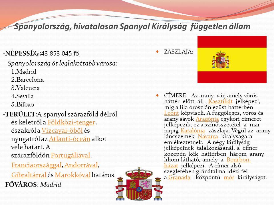 Spanyolország, hivatalosan Spanyol Királyság független állam