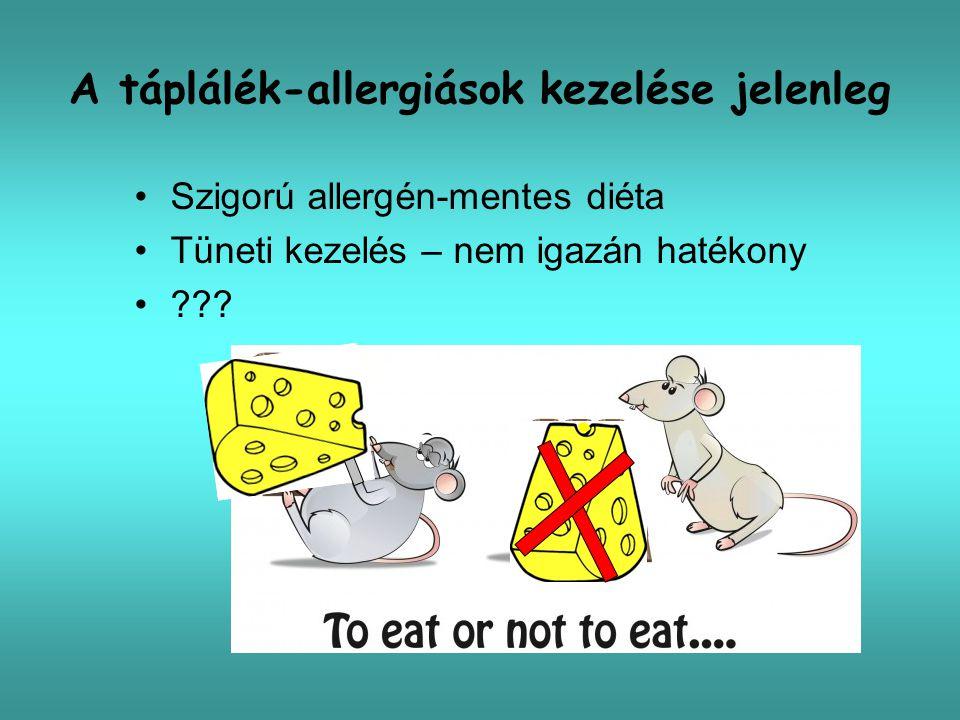 A táplálék-allergiások kezelése jelenleg