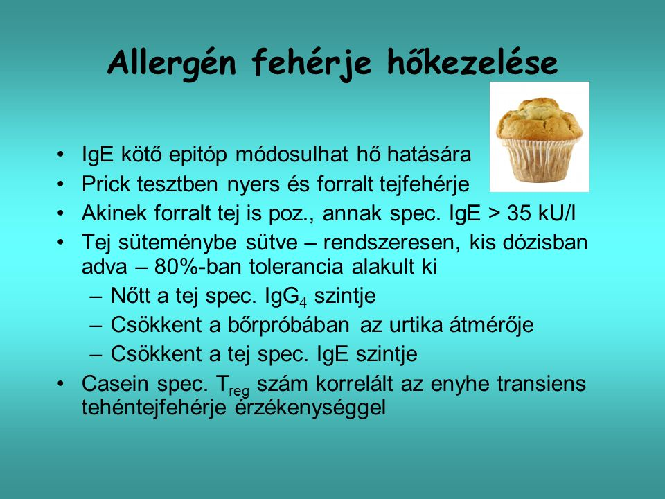 Allergén fehérje hőkezelése