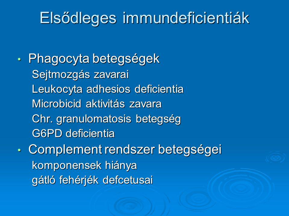 Elsődleges immundeficientiák