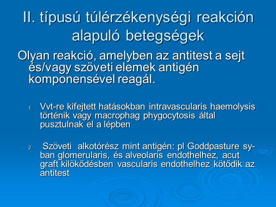 II. típusú túlérzékenységi reakción alapuló betegségek