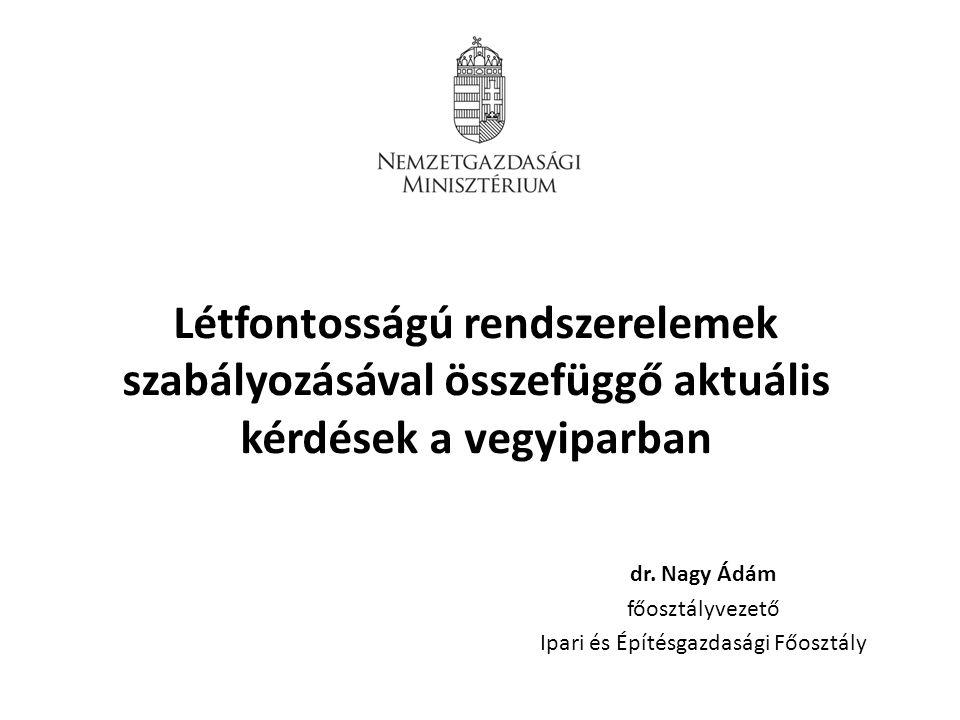 dr. Nagy Ádám főosztályvezető Ipari és Építésgazdasági Főosztály