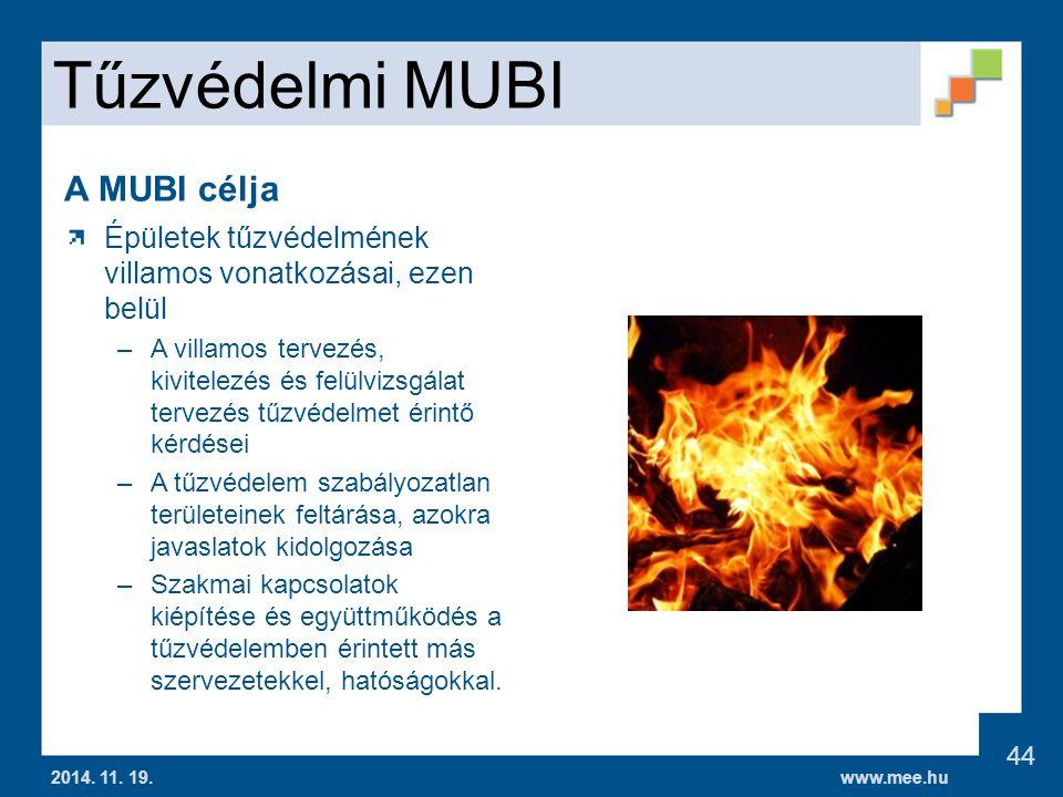 Tűzvédelmi MUBI A MUBI célja