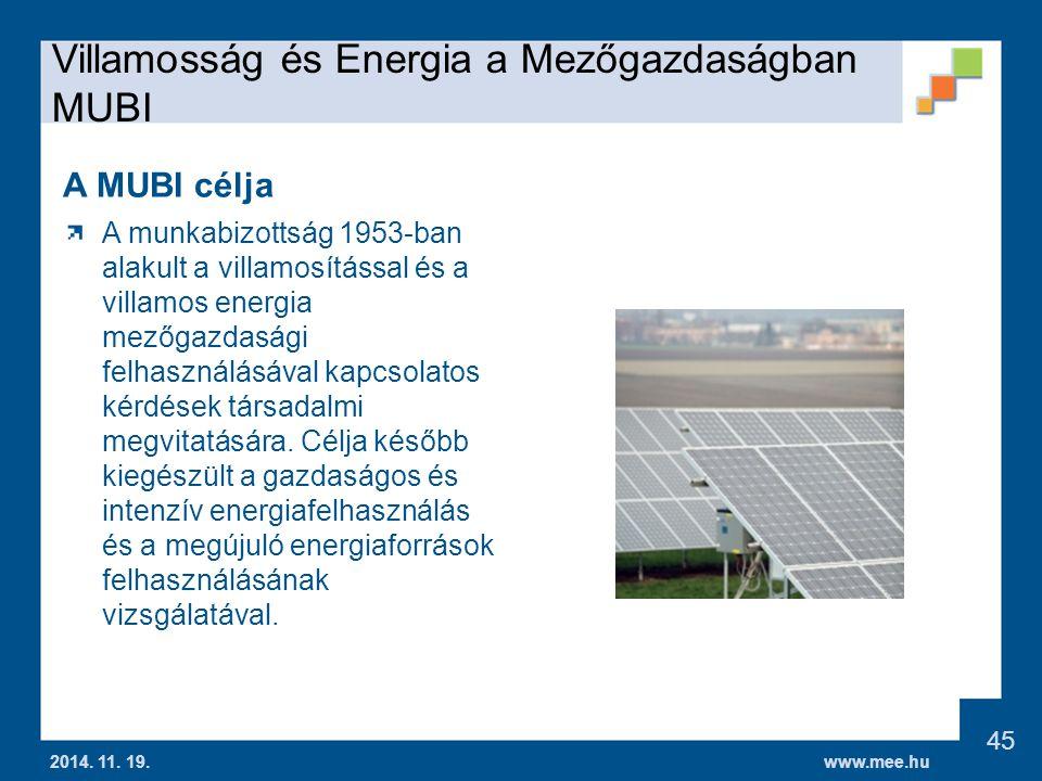 Villamosság és Energia a Mezőgazdaságban MUBI