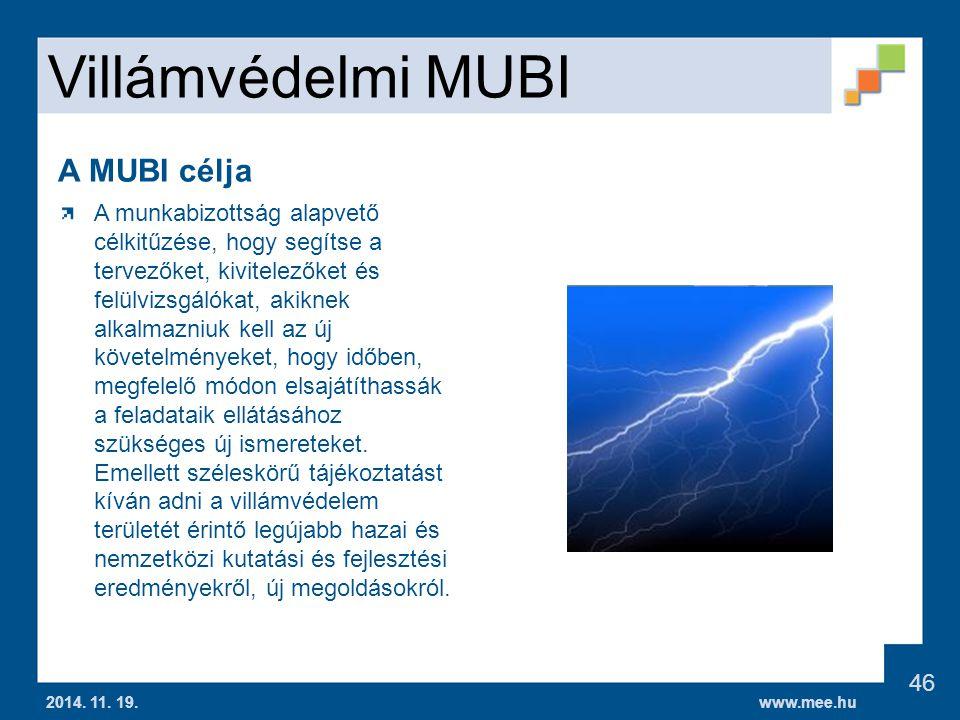 Villámvédelmi MUBI A MUBI célja