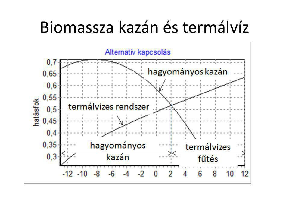 Biomassza kazán és termálvíz
