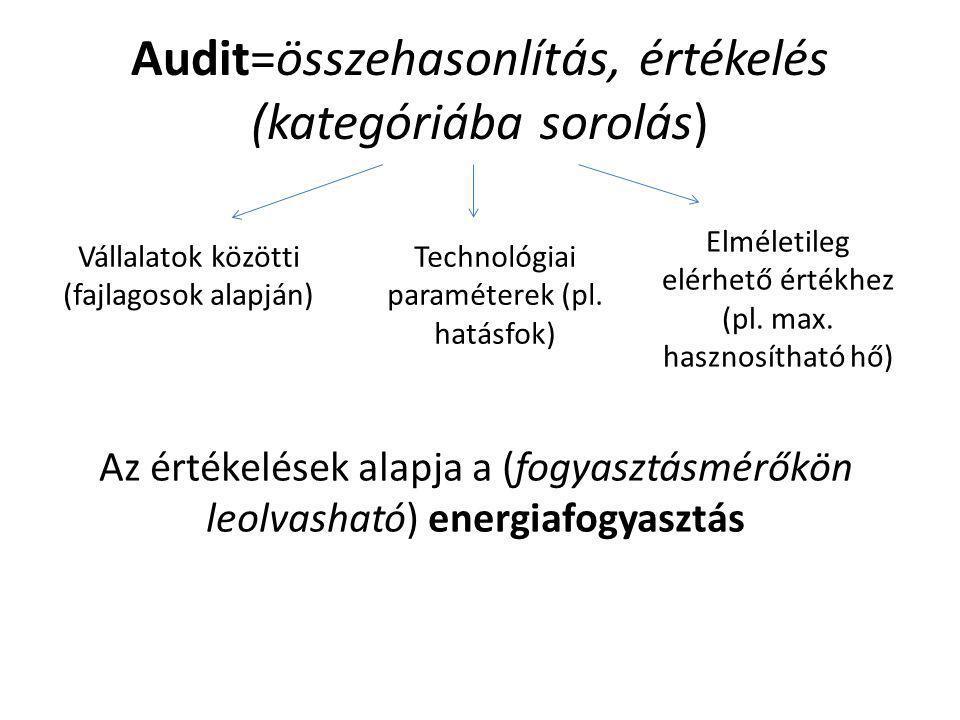 Audit=összehasonlítás, értékelés (kategóriába sorolás)
