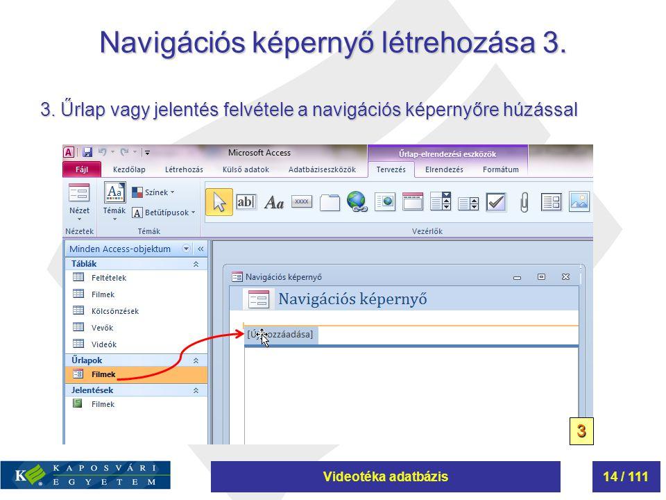 Navigációs képernyő létrehozása 3.