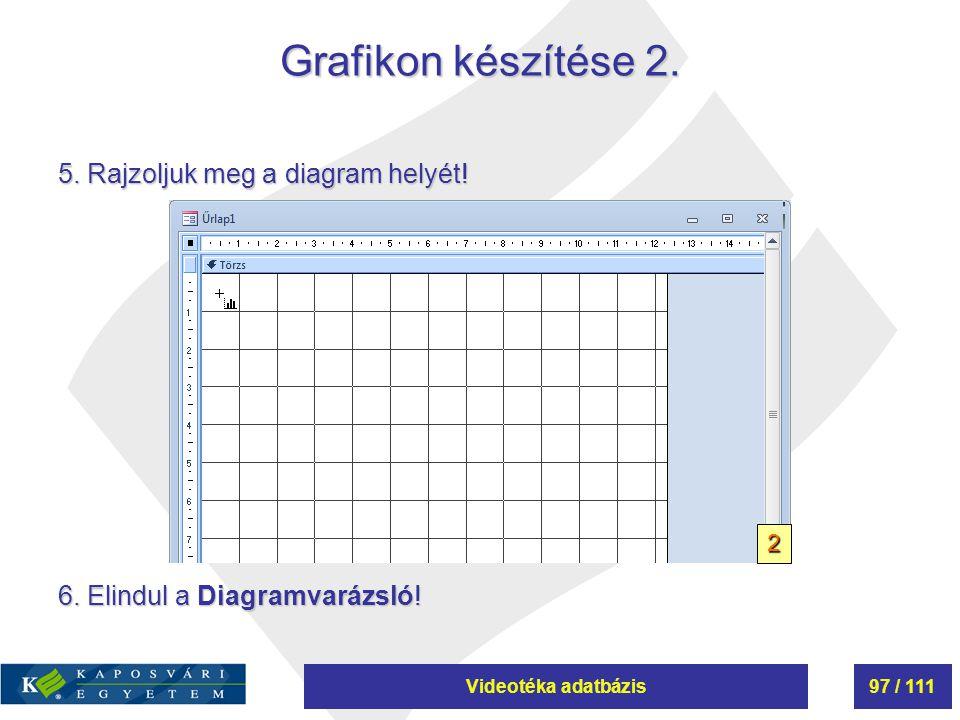 Grafikon készítése 2. 5. Rajzoljuk meg a diagram helyét!