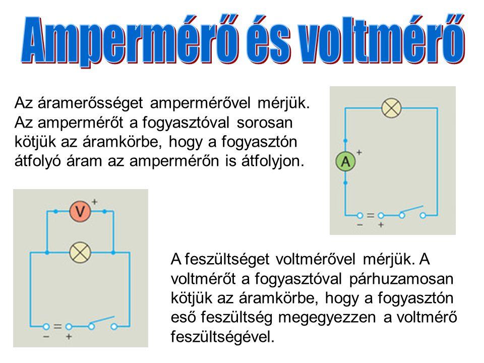 Ampermérő és voltmérő