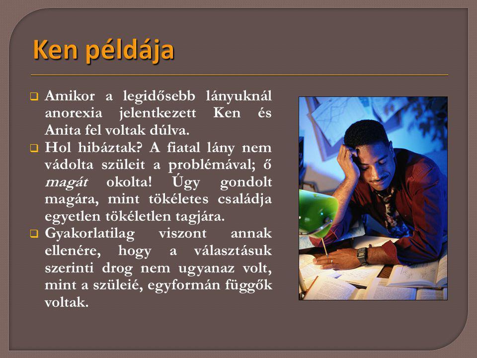 Ken példája Amikor a legidősebb lányuknál anorexia jelentkezett Ken és Anita fel voltak dúlva.