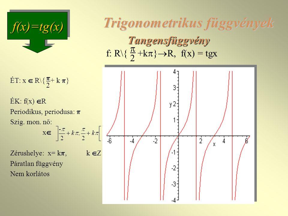 Trigonometrikus függvények