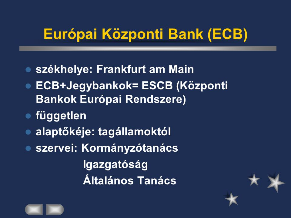 Európai Központi Bank (ECB)