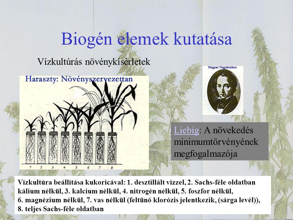 Biogén elemek kutatása