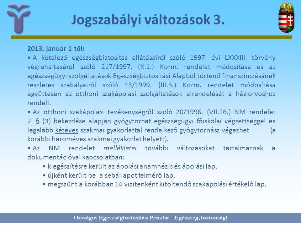 Jogszabályi változások 3.