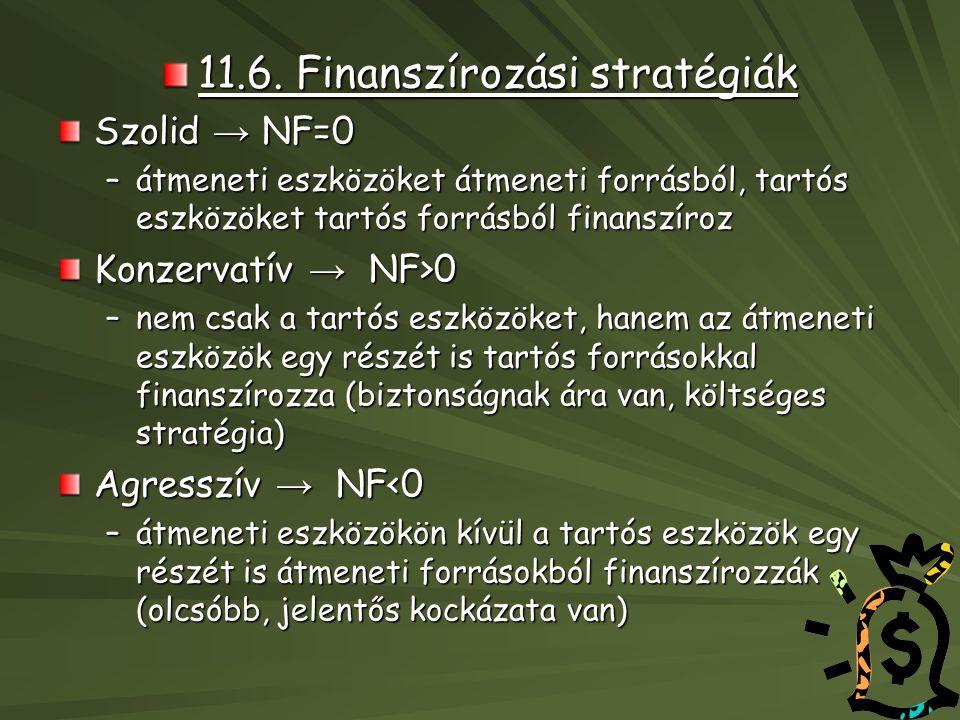 11.6. Finanszírozási stratégiák