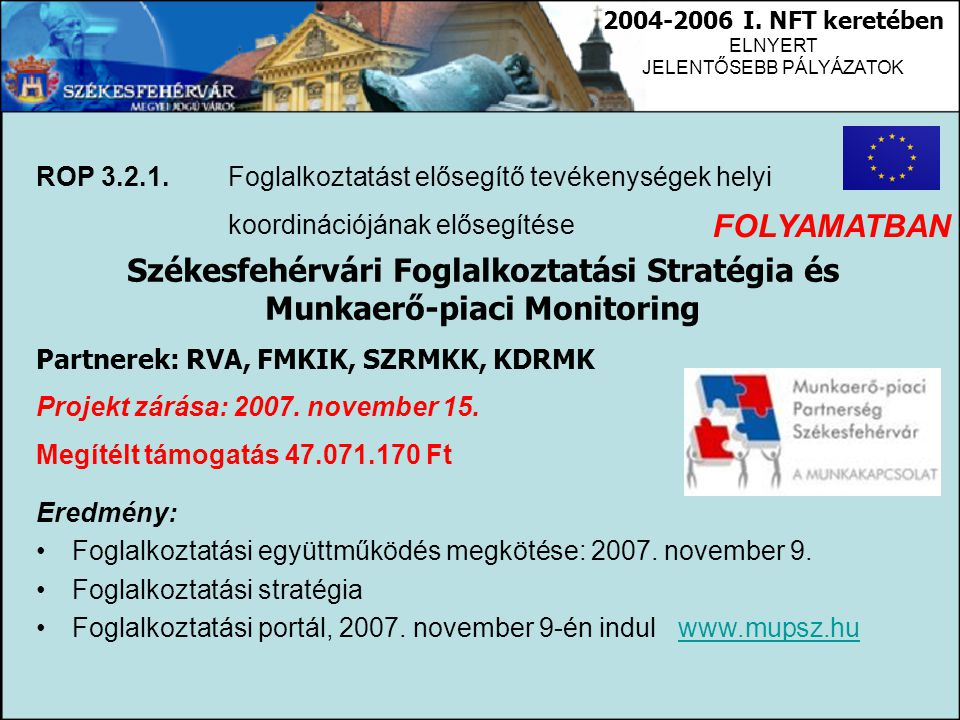 Székesfehérvári Foglalkoztatási Stratégia és Munkaerő-piaci Monitoring